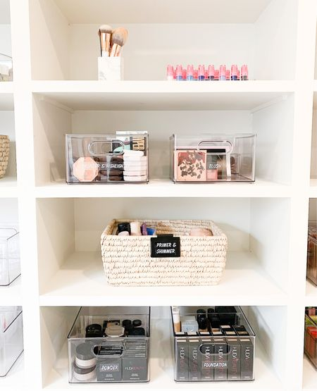 A little glam for your gram 🌟  Mirco sorting your make-up and skincare can cut valuable minutes off the time it takes you to get ready! Streamlining your morning routine eliminates stress and can keep your products cleaner.      #LTKhome #LTKstyletip #LTKbacktoschool