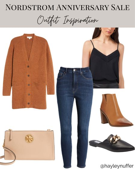 Recreated one of my go-to fall looks with pieces from the nsale!  Nordstrom, cardigan, fall outfit, fall boots    #LTKshoecrush #LTKstyletip #LTKSeasonal