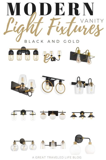 Modern vanity light fixtures are all the rave for home renovations! Make any bathroom renovation a bit more special with these modern vanity light fixtures. I'm loving these black and gold fixtures.    http://liketk.it/37IJd #liketkit @liketoknow.it #LTKhome #LTKunder100 #StayHomeWithLTK @liketoknow.it.brasil @liketoknow.it.europe @liketoknow.it.family @liketoknow.it.home Shop your screenshot of this pic with the LIKEtoKNOW.it shopping app