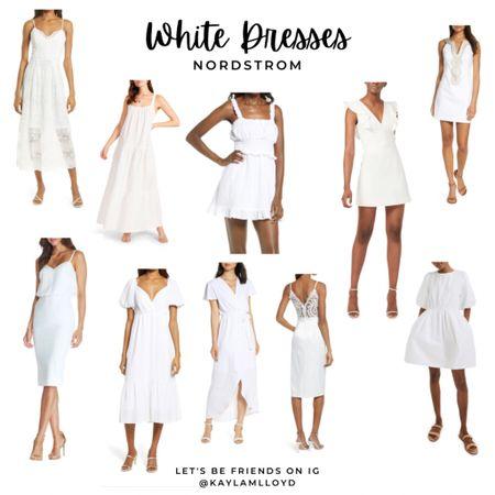 These gorgeous white dresses from Nordstrom as summer staples! http://liketk.it/3f6UI @liketoknow.it #liketkit #LTKstyletip #LTKsalealert