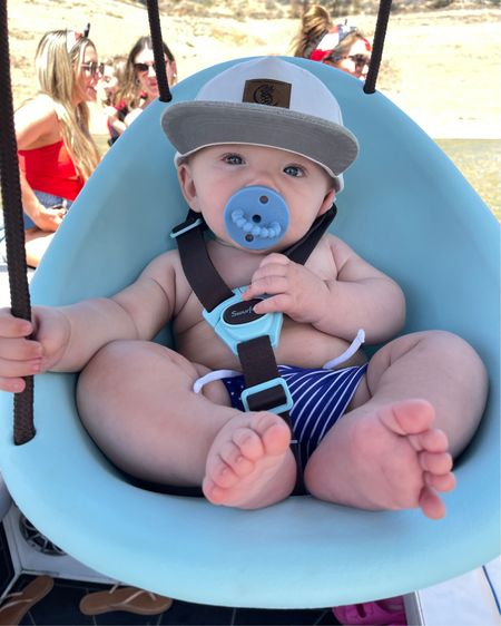 http://liketk.it/3gGCq #liketkit @liketoknow.it He loves this swing! 💙 #LTKbaby #LTKkids #babyswing #outdoors #summer