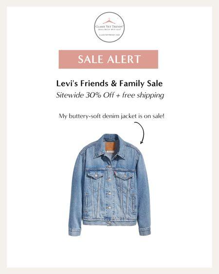 classy yet trendy, Levi's, ex-boyfriend denim jacket on sale #salealert #fallfavorites