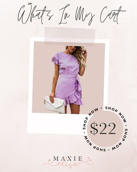What's In My Cart - The Perfect Summer Mini Dress From Amazon ✨  #whatsinmycart #summerdress #minidress #amazonfashion #amazondress #summeroutfits #purpledress #amazonfinds #summerfashion #affordablefashion  #LTKSeasonal #LTKstyletip #LTKunder50