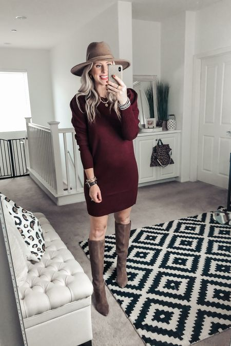 The cutest sweater dress and it's from Walmart! So good with tall boots and a hat! Wearing a M   http://liketk.it/2YrvU #liketkit @liketoknow.it #LTKunder50 #LTKstyletip #LTKshoecrush