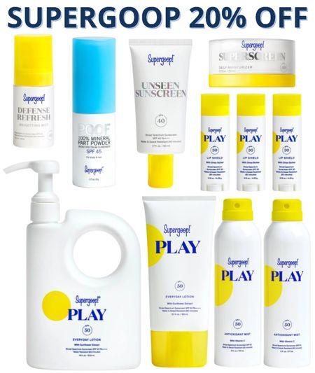 Supergoop sale Sunscreen best body sunscreen SPF clean beauty clean skin care  #LTKunder50 #LTKsalealert #LTKbeauty
