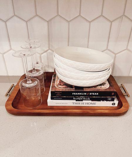 Walmart tray. Kitchen home decor ideas.    #LTKhome #LTKstyletip