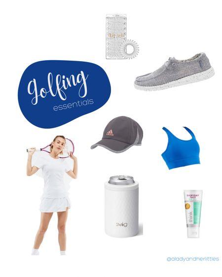 Women's golfing items, women's outdoor hat, swig can coozie, swig brand can cooler, tinted sunscreen, golf out, medium impact bra, golfing shoes, spiral cord hair ties, kitsch, amazon finds, women's golf essentials, summer golf finds.   http://liketk.it/3izMz #liketkit #LTKfit #LTKunder100 #LTKsalealert #ltkseasonal @liketoknow.it