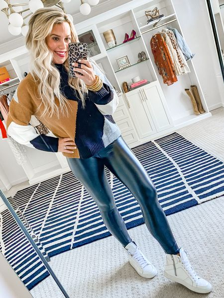 Code LAUREN15 for 15% off sweater & leggings. Wearing a small in both.