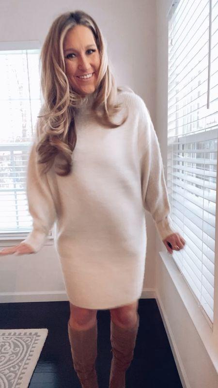 Express sweater dress great for winter nights   #StayHomeWithLTK #LTKstyletip #LTKSeasonal
