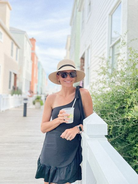 This swimsuit is half off now, making it $55, hats is a great Amazon find and it's packable! Wrap skirt is such a great coverup. Sunglasses are Mohala eyewear (Pikake in sand) and code katiev saves 10%