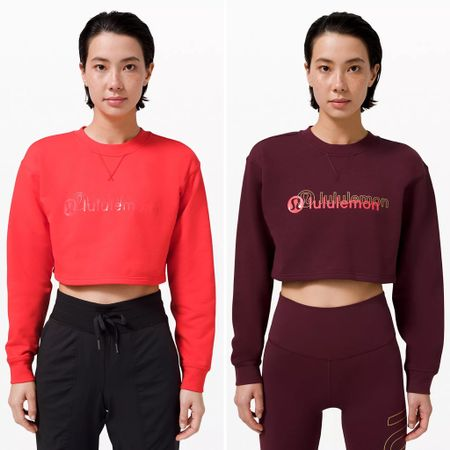 lululemon sale alert 🚨: All Yours Cropped Crew *Lunar New Year in Cassis and Love Red now on sale for $79 (down from $98)   #LTKsalealert #LTKcurves #LTKfit