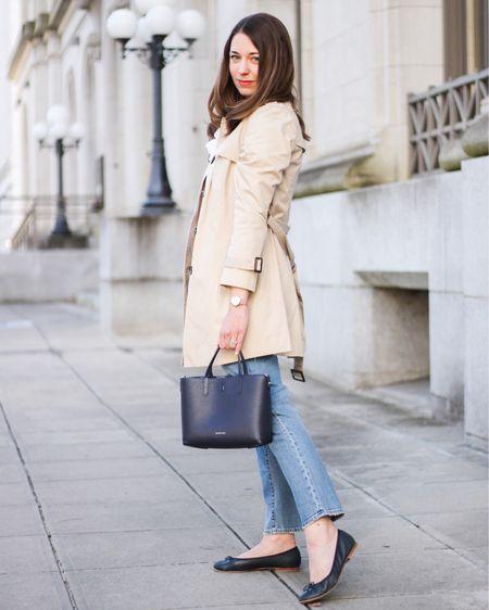 Trench coat from winter to spring http://liketk.it/36kdY #liketkit @liketoknow.it #LTKstyletip #LTKunder100 #LTKshoecrush