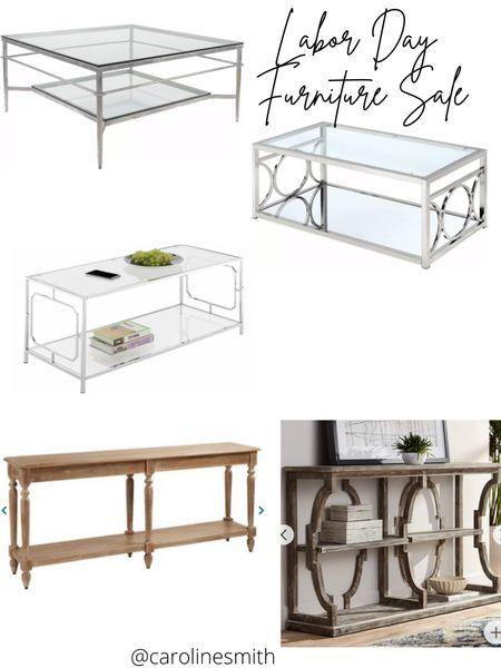 Labor Day Furniture Sale Console Table Coffee Table  #worldmarket #wayfair #consoletable #console #coffeetable #homedecor #laborday #sale #lds   #LTKsalealert #LTKhome #LTKSeasonal