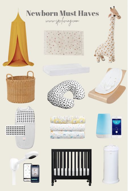 """Our newborn must haves!! Is now on the blog! Everything for his or her bedroom, things we needed with our first and a few more things I """"want"""".   #LTKkids #LTKbaby #LTKbump"""