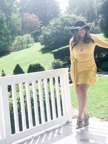 Fall Fashion and easy styling! Love this easy faux wrap dress with zebra booties and a floppy bohemian hat…  #LTKbacktoschool #LTKSeasonal #LTKworkwear