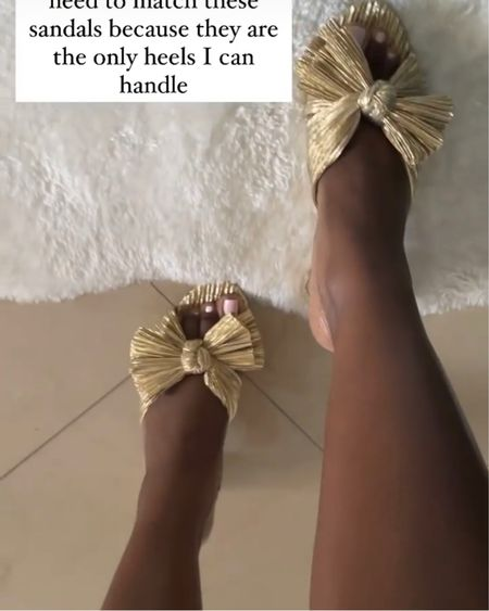 Gold Sandals. http://liketk.it/3en3M #liketkit @liketoknow.it #LTKshoecrush