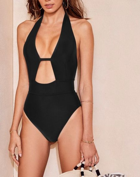 Bring the sexy back to Spring Break in this hot black one-piece from AdoreMe. The Brinlee Contour comes in sizes XS-xL.   #LTKSeasonal #LTKcurves #LTKswim