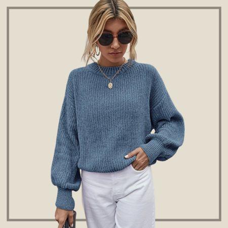 Rib knit drop shoulder sweater   #LTKstyletip #LTKunder50