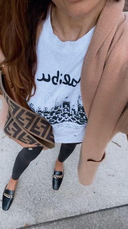 Mules graphic tee and Fendi flip bag large   #LTKSeasonal #LTKunder100 #LTKstyletip