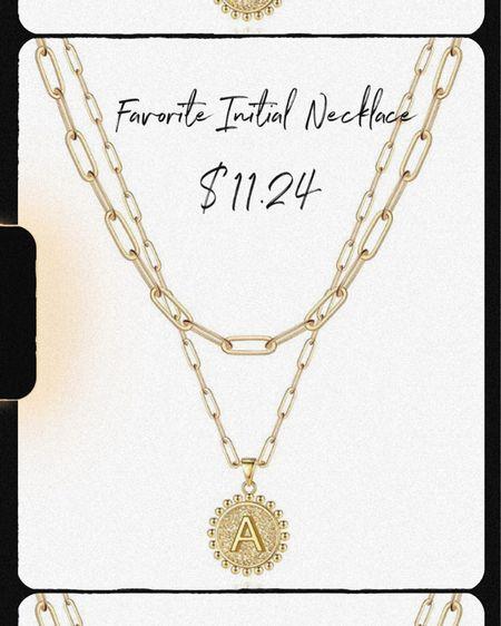 Amazon Prime Day Sale for under $12  Goldnecklace|intialnecklace|primeday|amazonfind| amazonjewelry|   #LTKsalealert #LTKunder50 #LTKstyletip