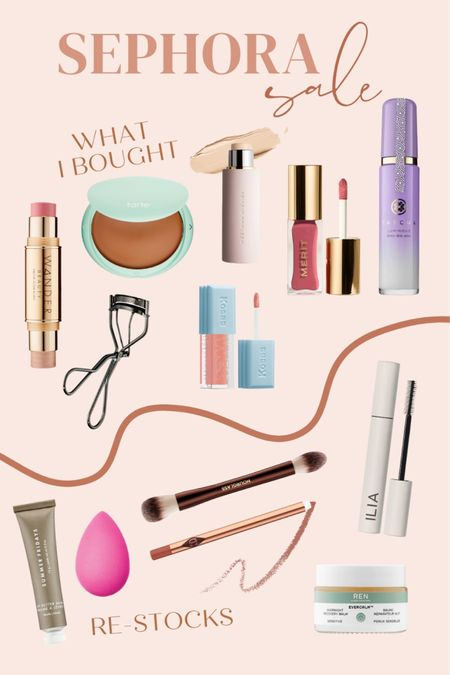 What I bought for the Sephora sale and a few re-stocks of products I loved! http://liketk.it/3cJ0a #liketkit @liketoknow.it #beauty #skincare #LTKbeauty
