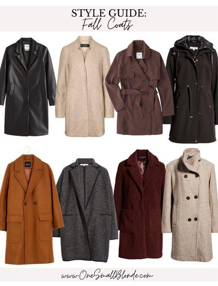 Fall coats 🤍🍁🍂  #LTKstyletip #LTKunder100 #LTKSeasonal
