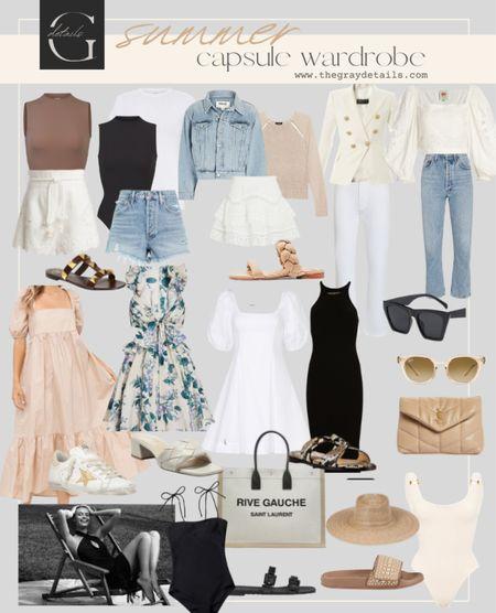 Summer capsule wardrobe   #LTKitbag #LTKshoecrush #LTKstyletip