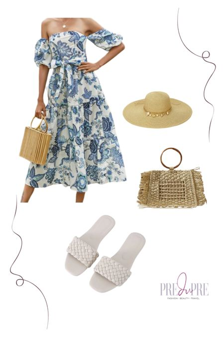 $24 Off the shoulder floral midi dress.  Comes in multiple colors. Great as wedding guest, garden picnic party, date night. Dress up or casual look. Summer dress, summer look http://liketk.it/3iFf9 @liketoknow.it #liketkit #LTKstyletip #LTKunder50 #LTKunder100 #LTKitbag #LTKshoecrush #LTKtravel #LTKwedding Download the LIKEtoKNOW.it app to shop this pic via screenshot
