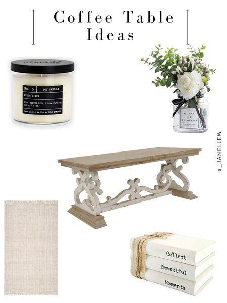 #homedecor #livingroom #livingroomideas #coffeetable #coffeetableideas #moderncoffeetable #modern #chic #beige #cream #neutrals   #LTKfamily #LTKhome #LTKstyletip