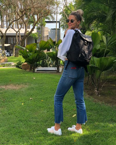 All those #summertime vacations are almost upon us and I always need a relaxed outfit to travel in! I like to be cute, but still comfy! This cropped sweatshirt was the perfect fit and kept me warm on the plane! Under $19!  . . Plus I snagged these #kswiss sneakers for $29! Everything is linked! http://liketk.it/2BWfI #liketkit @liketoknow.it #ltkunder50 #ltkunder100 #ltkstyletips #ltkshoecrush #nordstromrack #Ltktravel #ltkfamily #ltkbaby #ltkbump #ltkvacation