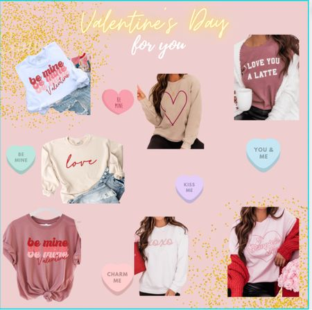 Love all of these Valentine's Day outfit options or even everyday option because who doesn't LOVE, LOVE!!! 💕🥰 #valentinesday  #LTKunder50 #LTKsalealert #LTKVDay