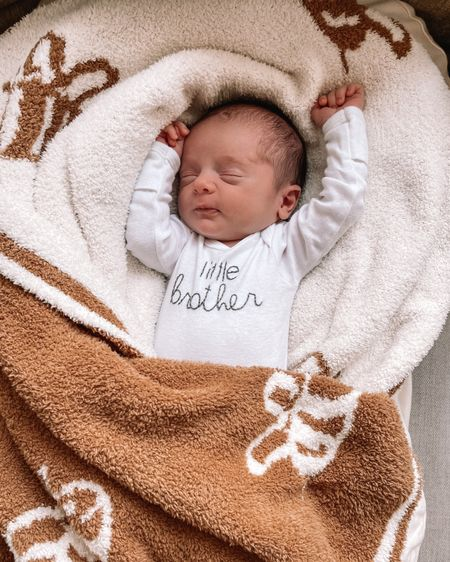 Baby blanket, baby gifts, barefoot Dreams baby, snuggle me lounger, baby lounger, little brother, Etsy shop, hand embroidered onesie http://liketk.it/3k0h3 @liketoknow.it #liketkit #LTKbaby #LTKbump #LTKfamily