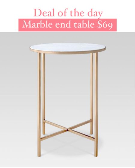 Target deal days! Marble and gold end table is 40% off! We bought this accent table 6 years ago and it has held up really well! @liketoknow.it #liketkit http://liketk.it/3i2cB #LTKhome #LTKsalealert #LTKunder100 Target finds, target home, marble table, gold accent Table, home decor, gold table, living room, bedroom