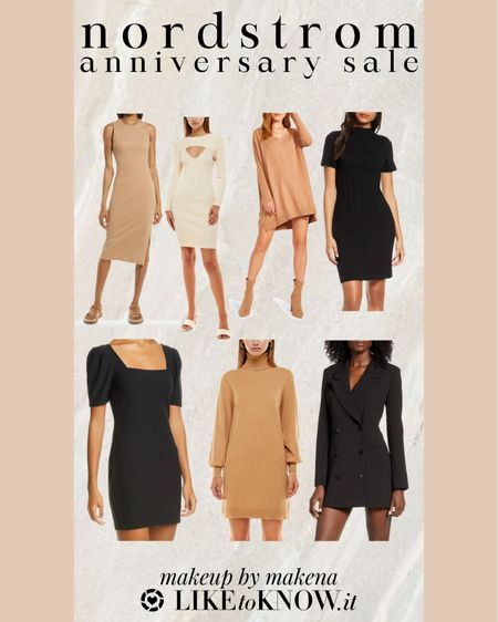 Save on these nude and black dresses during the Nordstrom Anniversary Sale from today through August 8 http://liketk.it/3jDhn #liketkit @liketoknow.it . #nsale   #LTKunder100 #LTKunder50 #LTKsalealert