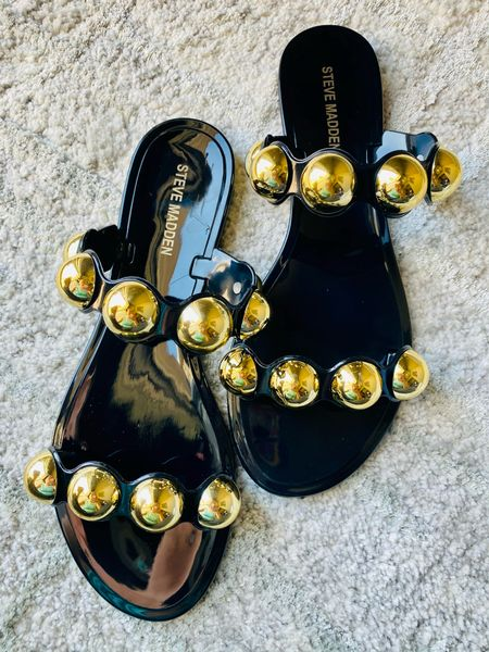 Spring sandals! Summer sandals! Jelly sandals with studs. #stevemadden #summershoes #springshoes #sandals   #LTKshoecrush #LTKSeasonal