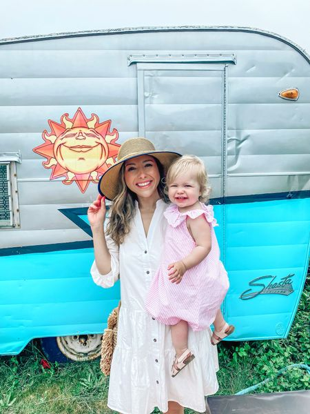 Wearing the S/M in this white button up dress // hat is from a local island shop // summer outfit // travel outfit // white dress // button up dress   #LTKstyletip #LTKtravel #LTKunder100