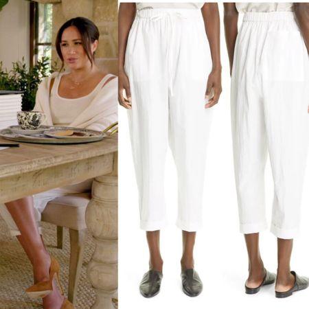 Meghan in CO drawstring pants #elastic #comfy #casual #crop   #LTKstyletip #LTKhome