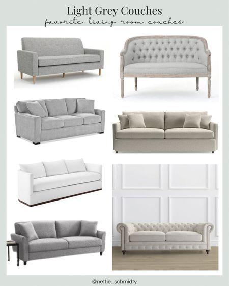 Light grey couches and sectionals 🤍 I would love a white couch, but let's face it grey couches for living room or family room furniture are much more practical and easy to keep clean with children and pets on you living room furniture.   Chaise, comfy couch, extra large couch, tufted couch, upholstered couches.  You can instantly shop all of my looks by following me on the LIKEtoKNOW.it shopping app http://liketk.it/3jg7j #LTKhome #LTKsalealert #LTKfamily @liketoknow.it.home #liketkit @liketoknow.it