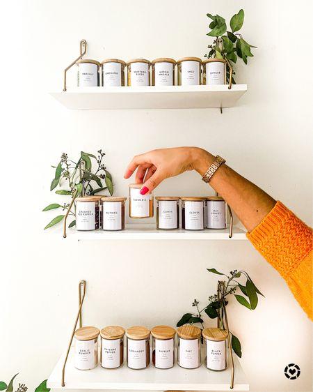 Spice rack, home decor, organization, kitchen decor, kitchen organization, home organization http://liketk.it/39CH8 #liketkit @liketoknow.it #LTKhome #StayHomeWithLTK