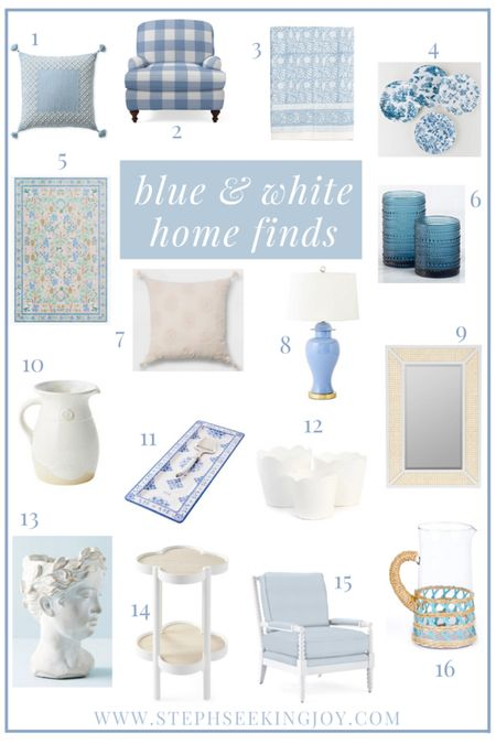 blue & white home decor finds! http://liketk.it/36qOB #liketkit @liketoknow.it #LTKhome #LTKunder50 Download the LIKEtoKNOW.it shopping app to shop this pic via screenshot