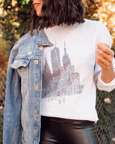 Graphic sweatshirt now 15% off! shop small! http://liketk.it/32BO9 #liketkit @liketoknow.it #LTKgiftspo #LTKunder50 #LTKsalealert