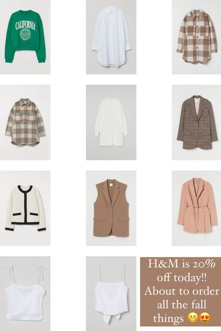 H&M is 20% off today!! Ordering all the fall fashion 😍 so many good fall staples like blazers, jackets, shackets and vests!!   #LTKsalealert #LTKunder50 #LTKSale