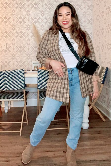 Outfits under $100! Gingham, plaids, and blazers! Elevate your casual style!  #LTKunder50 #LTKworkwear #LTKSeasonal