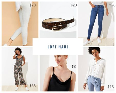Favorite finds from the 50% off continue! Wardrobe staples, wide legged jumpsuit and jeans for under $30! Sizing: jumpsuit: petite- size up one(I'm 5'4), jeans: size down one for curvy fit, leggings: size up one, black cami- stayed tts but petite (I'm a 32 a|b) Sale: 50% off  http://liketk.it/2Q6ak #liketkit @liketoknow.it #LTKsalealert #LTKunder50 #LTKstyletip #ltkspring #ltksummer #ltkunder100