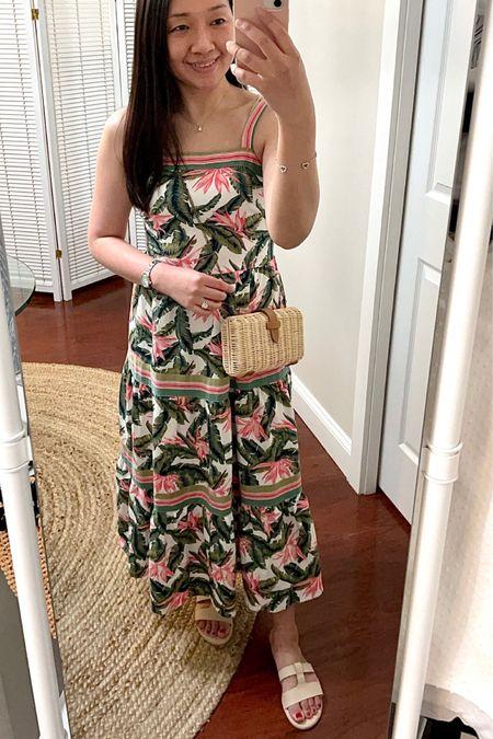 "Palm print maxi dress. I took my usual size 0 petite. I'm 5' 2.5"" and 113 pounds. @liketoknow.it http://liketk.it/3grCm #liketkit #LTKsalealert #LTKstyletip #LTKunder100"