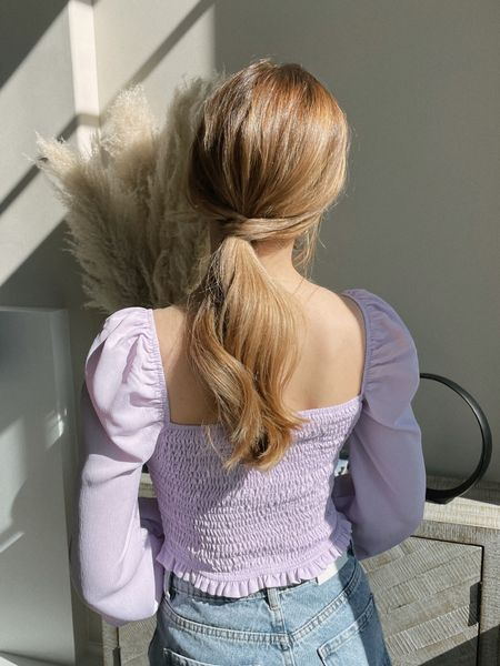 Pretty purple top for spring and a romantic ponytail. Wearing a small in the top.  http://liketk.it/38uSh #liketkit @liketoknow.it #LTKSeasonal #LTKunder100 #LTKunder50