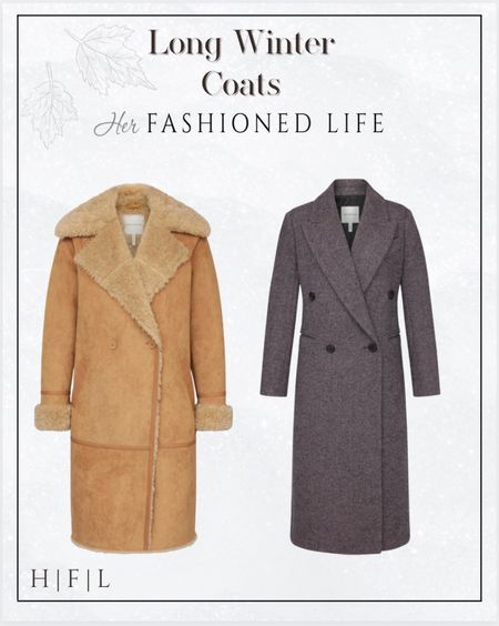 Two of my favorite long winter coats from Nordstrom! The plush faux-fur trim on the cuffs and lapels gives this faux suede coat a glam 70's flair that never goes out of style. The Avec Les Filles timeless coat is tailored to perfection! Her Fashioned Life   #LTKSeasonal #LTKstyletip #LTKHoliday