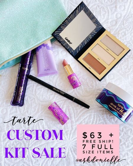 Tarte custom kit sale! $63 + free ship for 7 full size items http://liketk.it/3hFY8 #liketkit @liketoknow.it @tartecosmetics #tartepartner