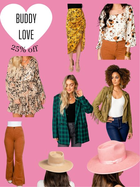 Buddy Love -  25% off sitewide   Fall fashion / Transition to fall outfits / Outfit ideas / Fall accessories   #LTKsalealert #LTKSale