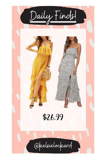 Daily finds! Under $30 dress, amazon finds, amazon dress, amazon fashion, maxi dress, summer dress, summer dress, wedding guest dress, white dress, yellow dress  #LTKSeasonal #LTKstyletip #LTKunder50